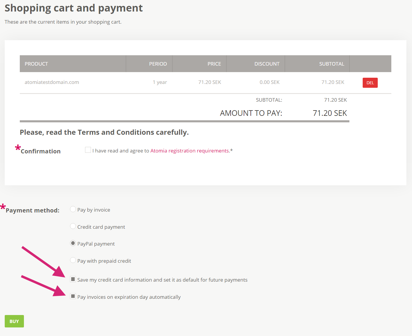 Enabling recurring payments